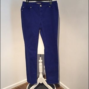 SO Slimming by Chico Purple Jeans Size 1 Tall
